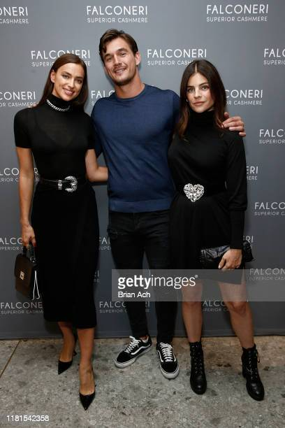Irina Shayk Tyler Cameron and Julia Restoin Roitfeld attend as Falconeri launches in the US with store opening at 101 Prince Street on October 16...