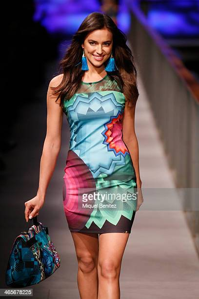 Irina Shayk walks the runway at TCN's Autumm Winter 20142015 Collection during 080 Barcelona Fashion Week at the Born Centre Cultural in Barcelona on...