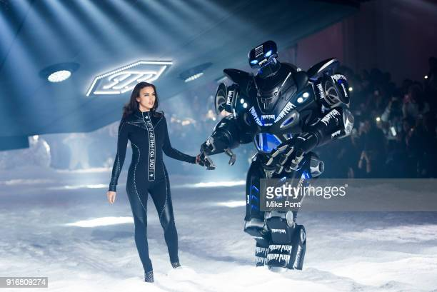 Irina Shayk walks the runway at the Philipp Plein fashion show during New York Fashion Week The Shows on February 10 2018 in New York City