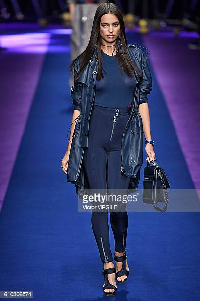 Irina Shayk walks the runway at the Versace Ready to Wear show during Milan Fashion Week Spring/Summer 2017 on September 23 2016 in Milan Italy