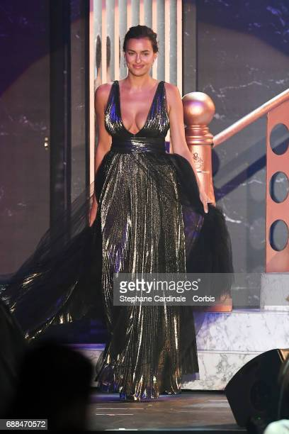 Irina Shayk walks the runway during the amfAR Gala Cannes 2017 at Hotel du CapEdenRoc on May 25 2017 in Cap d'Antibes France