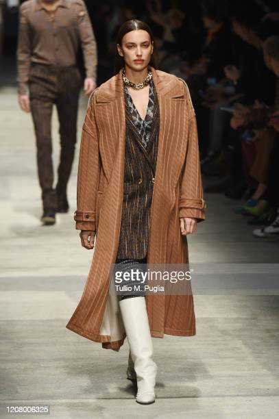 Irina Shayk walks the runway during the Missoni fashion show as part of Milan Fashion Week Fall/Winter 20202021 on February 22 2020 in Milan Italy