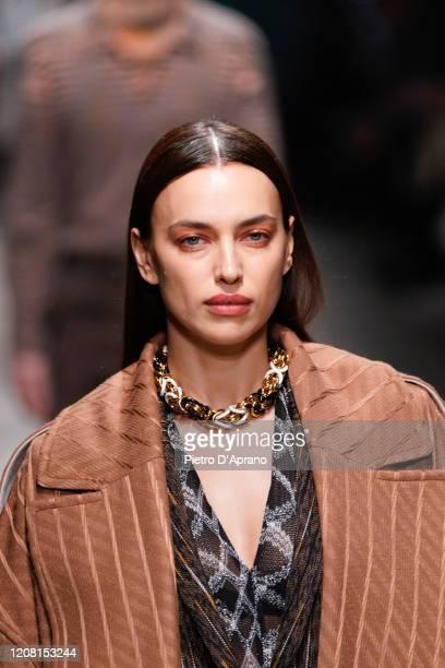 Irina Shayk walks the runway during the Missoni fashion show as part of Milan Fashion Week Fall/Winter 2020-2021 on February 22, 2020 in Milan, Italy.