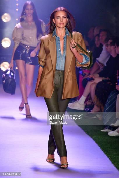 Irina Shayk walks the runway for Brandon Maxwell during New York Fashion Week: The Shows on September 07, 2019 in New York City.
