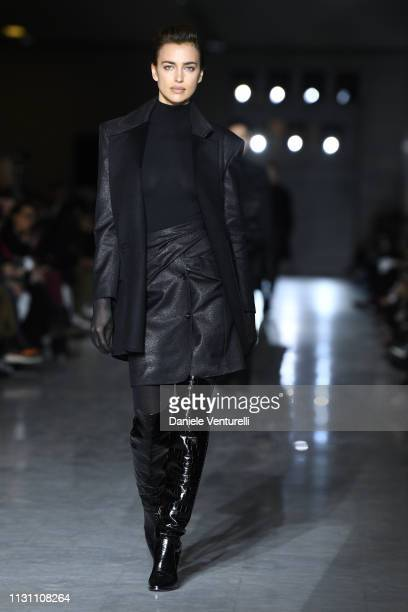 Irina Shaykwalks the runway at the Max Mara show at Milan Fashion Week Autumn/Winter 2019/20 on February 21 2019 in Milan Italy