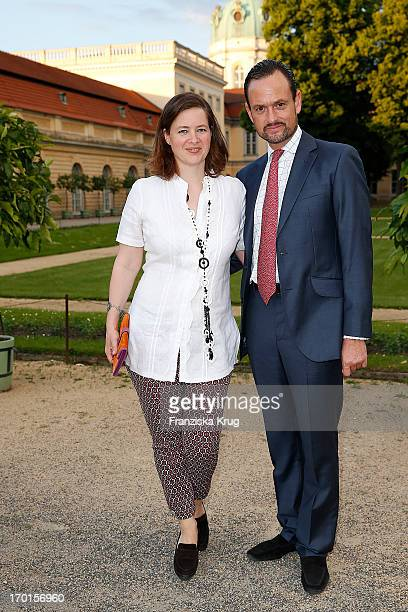 Irina Verena Princess von Hessen and Alexander Count von SchoenburgGlauchau attend the reopening of the Berggruen Museum at Schloss Charlottenburg on...