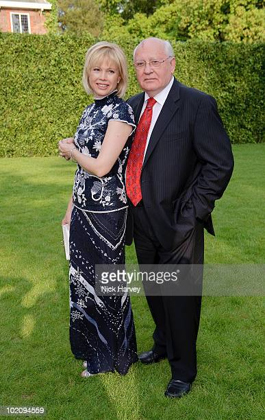 Irina Virganskaya and her father Mikhail Gorbachev attend the annual Raisa Gorbachev Foundation Party at Stud House Hampton Court on June 5 2010 in...