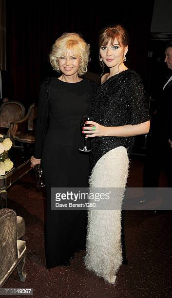 Irina Virganskaya and Ksenia Gorbacheva attend the Gorby 80 Gala at the Royal Albert Hall on March 30 2011 in London England The concert is to...