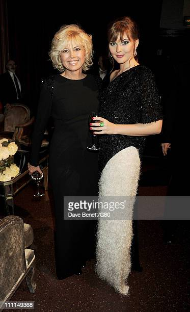 Irina Virganskaya and Ksenia Gorbacheva attend the Gorby 80 Gala at the Royal Albert Hall on March 30, 2011 in London, England. The concert is to...