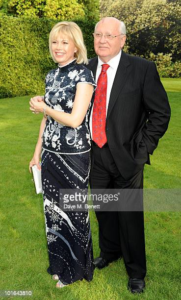 Irina Virganskaya and Mikhail Gorbachev attend the Raisa Gorbachev Foundation Party at Stud House Hampton Court Palace on June 5 2010 in Richmond...