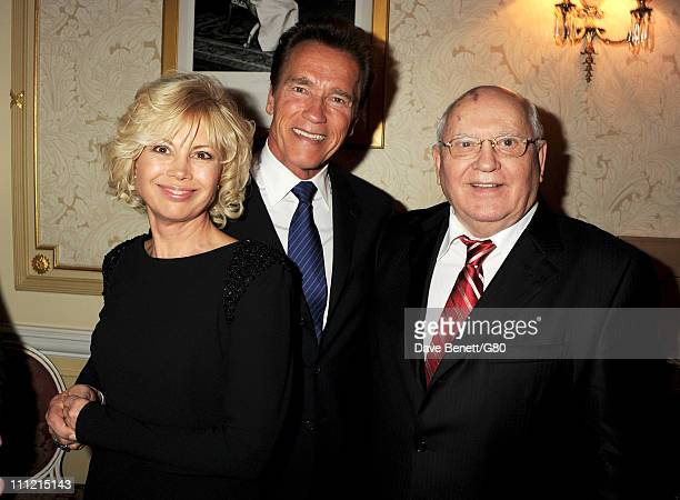 Irina Virganskaya Arnold Schwarzenegger and Former Soviet leader Mikhail Gorbachev attend the Gorby 80 Gala at the Royal Albert Hall on March 30 2011...