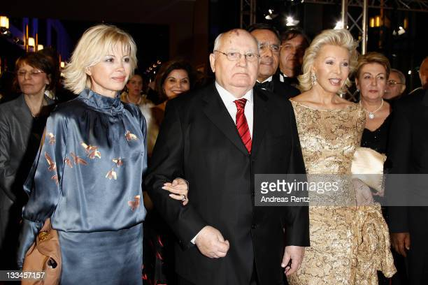 Irina Virganskaya Mikhail Gorbacheva and Ute Ohoven attend the 20th UNESCO charity gala at Maritim Hotel on November 19 2011 in Duesseldorf Germany