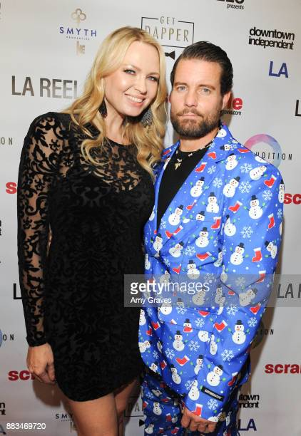 Irina Voronina and Damien Puckler attend the Scramble Feature Film Worldwide Premiere on November 30 2017 in Los Angeles California