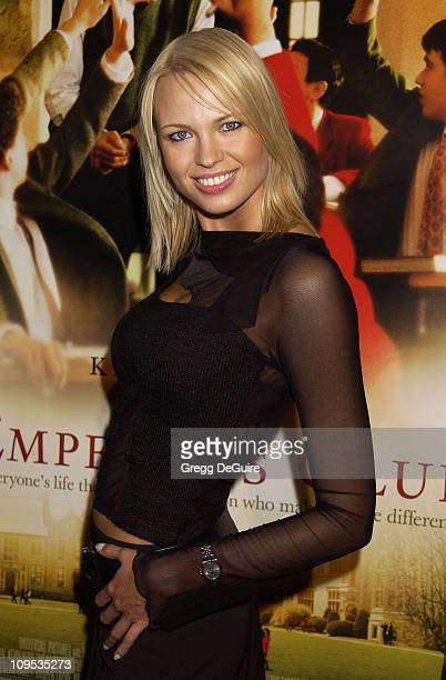 Irina Voronina during The Emperor's Club Premiere Los Angeles at Academy Theatre in Beverly Hills California United States