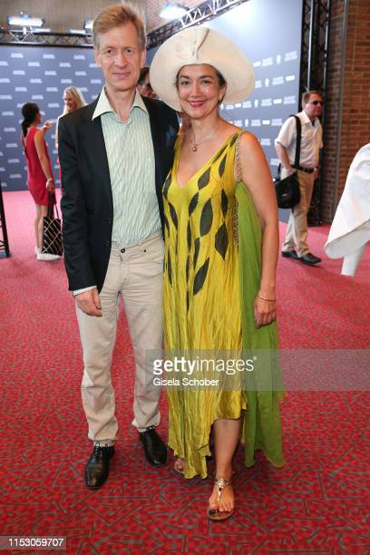 Irina Wanka and her husband Roland Kuhne Wanka attend the Bernd Burgemeister Fernsehpreis 2019 during the film festival at Gasteig on June 30 2019 in...