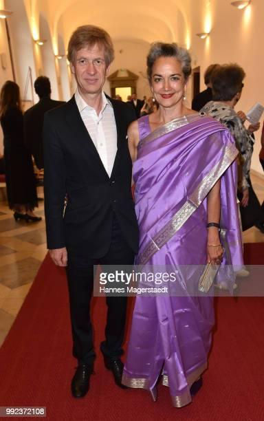 Irina Wanka and her husband Roland Kuhne Wanka attend the Bernhard Wicki Award 2018 during the Munich Film Festival 2018 at Cuvilles Theatre on July...