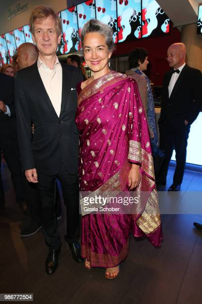 Irina Wanka and her husband Roland Kuhne Wanka during the opening night of the Munich Film Festival 2018 at Mathaeser Filmpalast on June 28 2018 in...
