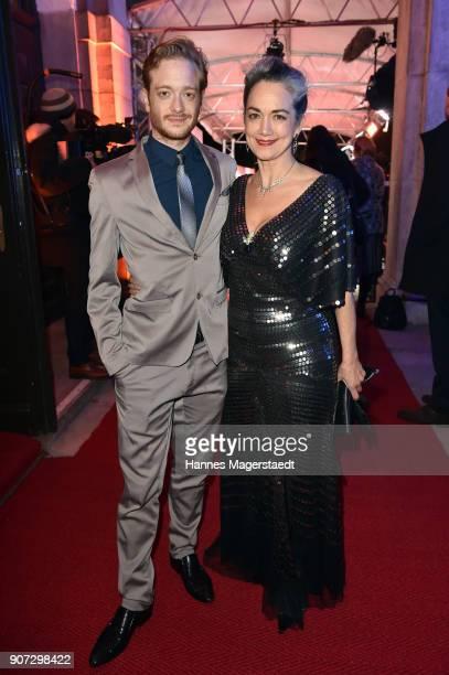 Irina Wanka and her son Gabriel Wanka during the Bayerischer Filmpreis 2017 at Prinzregententheater on January 19 2018 in Munich Germany