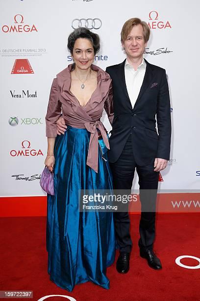 Irina Wanka and Roland Kuhne Wanka attend the Germany Filmball 2013 on January 19 2013 in Munich Germany