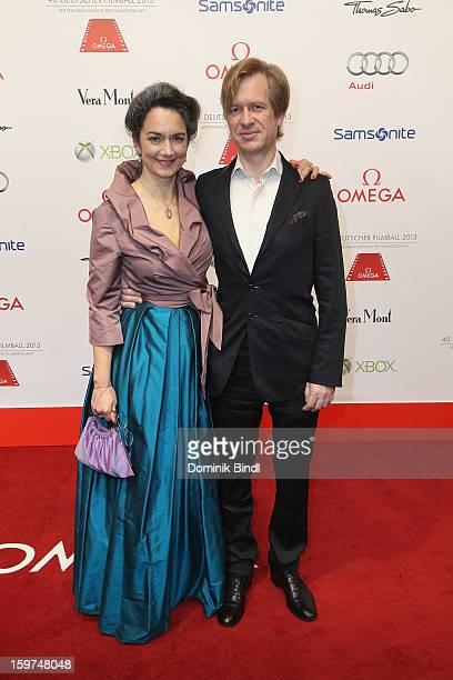 Irina Wanka and Roland Kuhne Wanka attend the Germany Filmball 2013 at Hotel Bayerischer Hof on January 19 2013 in Munich Germany