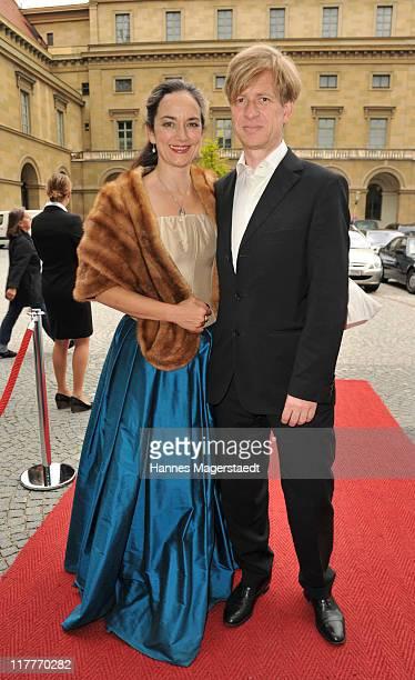 Irina Wanka and Roland KuhneWanka attend the Bernhard Wicki Award 'Die Bruecke Der Friedenspreis des Deutschen Films 2011' at the Cuvillies Theater...