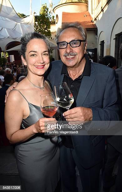 Irina Wanka and Wolfgang Stumpf during the Bavaria Film reception during the Munich Film Festival 2016 at Kuenstlerhaus am Lenbachplatz on June 28...