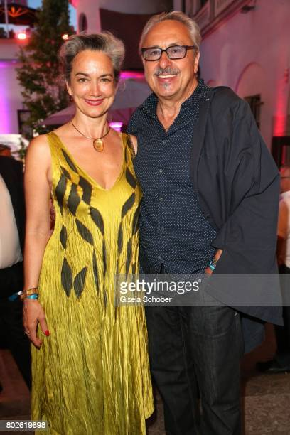 Irina Wanka and Wolfgang Stumph during the Bavaria Film reception during the Munich Film Festival 2017 at Kuenstlerhaus am Lenbachplatz on June 27...