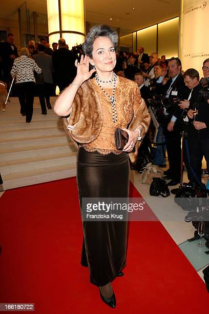 Irina Wanka attends the '11th Deutscher Hoerfilmpreis' at the Atrium Deutsche Bank on April 9 2013 in Berlin Germany