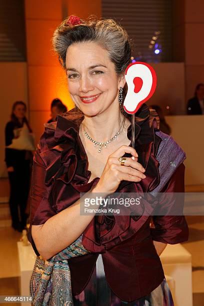 Irina Wanka attends the Deutscher Hoerfilmpreis 2015 on March 17 2015 in Berlin Germany