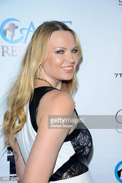 Irinia Voronina attends Babes In Toyland Charity Toy Drive at Boulevard3 on April 22 2015 in Hollywood California