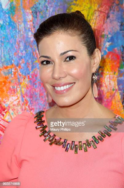 Iris Alamario attends Juxtapop A love Story presented by Mr Clever Art at One One Six Two on July 7 2018 in Los Angeles California