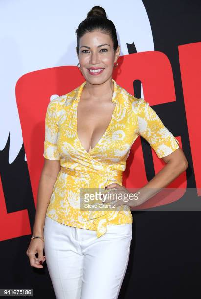 Iris Almario arrives at the Universal Pictures' Blockers Premiere at Regency Village Theatre on April 3 2018 in Westwood California