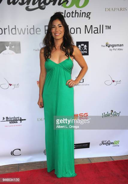 Iris Almario arrives for the Global Launch Of Fashion88 held at Pol' Atteu Haute Couture on April 14 2018 in Beverly Hills California