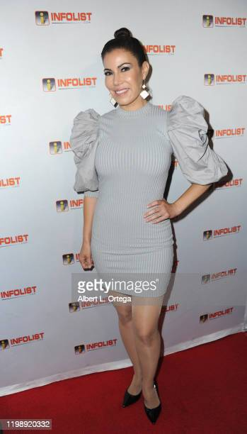 Iris Almario attends INFOlistcom's PreOSCAR Soiree and Birthday Party for founder Jeff Gund held at SkyBar at the Mondrian Los Angeles on February 5...