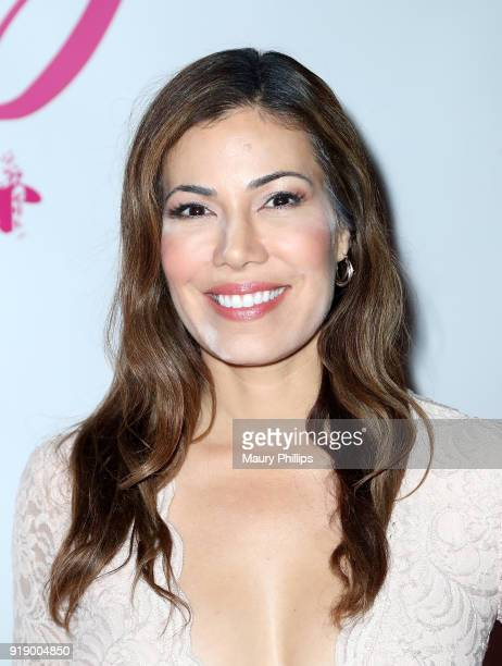 Iris Almario attends the 2018 Beauty The Beats Celebrity Party and Panel Discussion at Dream Magic Studios on February 15 2018 in Canoga Park...