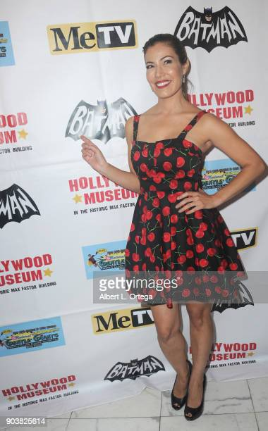 Iris Almario attends The Batman '66 Exhibit Opening held at The Hollywood Museum on January 10 2018 in Hollywood California