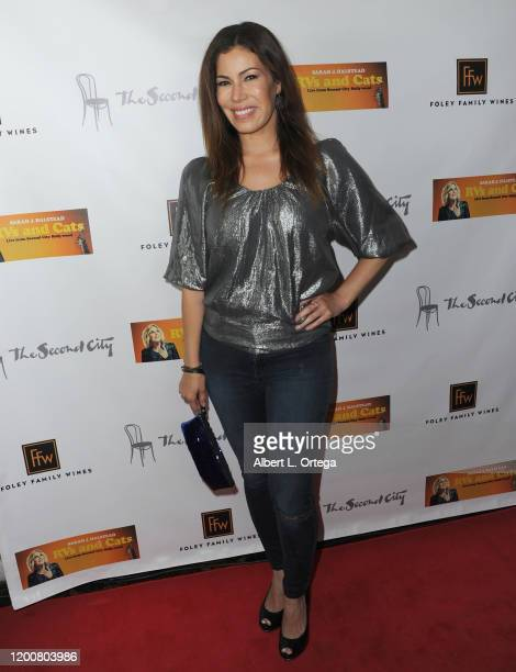 Iris Almario attends the Premiere Of The Amazon Comedy Special RV's And Cats held at Covell on February 13 2020 in Los Angeles California