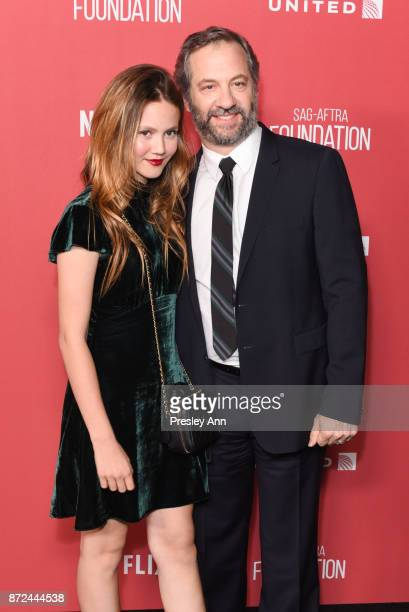 Iris Apatow and Judd Apatow attend SAGAFTRA Foundation Patron of the Artists Awards 2017 Arrivals at Wallis Annenberg Center for the Performing Arts...