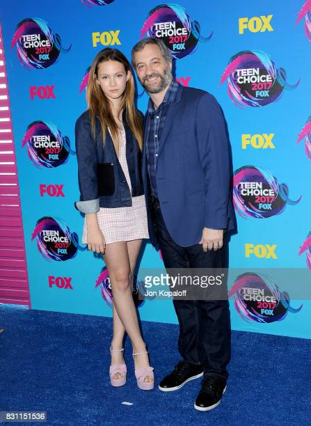 Iris Apatow and Judd Apatow attend the Teen Choice Awards 2017 at Galen Center on August 13 2017 in Los Angeles California