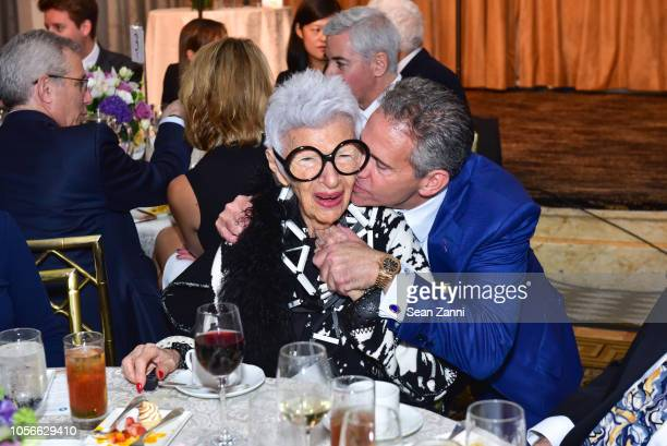 Iris Apfel and David R Weinreb attend the Alzheimer's Drug Discovery Foundation's Ninth Annual Fall Symposium Luncheon at The Pierre Hotel on...