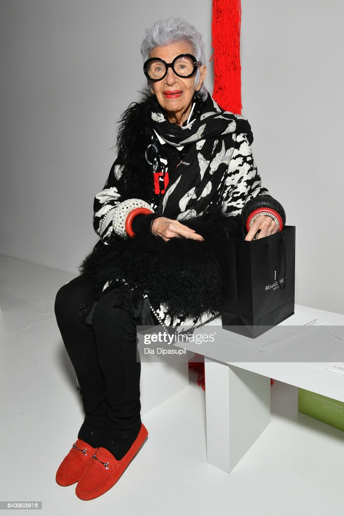 Iris Apfel attends the Calvin Klein Collection fashion show during New York Fashion Week on September 7, 2017 in New York City.