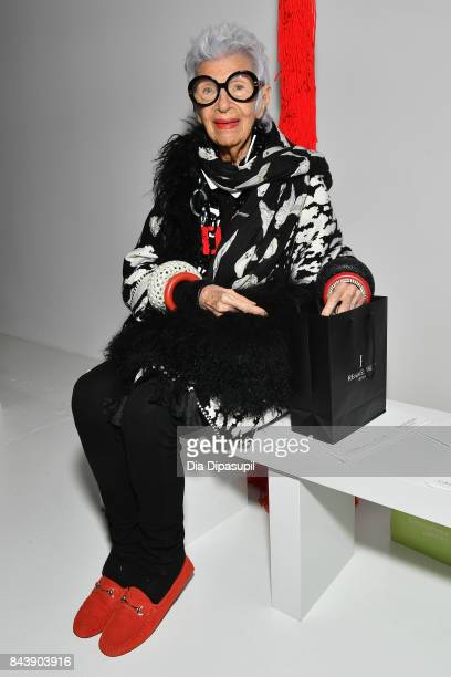 Iris Apfel attends the Calvin Klein Collection fashion show during New York Fashion Week on September 7 2017 in New York City