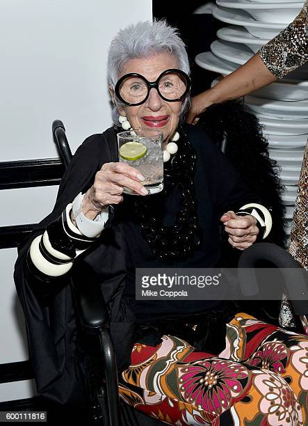 Iris Apfel attends the Cartier Fifth Avenue Grand Reopening Event at the Cartier Mansion on September 7 2016 in New York City