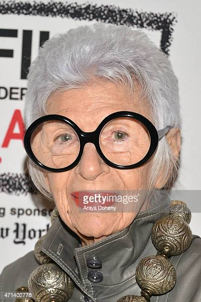 """Iris Apfel attends the Film Independent at LACMA Screening and Q&A of """"Iris"""" at Bing Theatre At LACMA on April 27, 2015 in Los Angeles, California."""