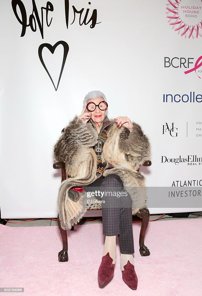 Iris Apfel attends the Holiday House Opening Night Benefit Honoring Iris Apfel at The Sullivan Mansions on November 16, 2016 in New York City.