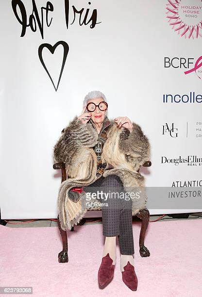 Iris Apfel attends the Holiday House Opening Night Benefit Honoring Iris Apfel at The Sullivan Mansions on November 16 2016 in New York City