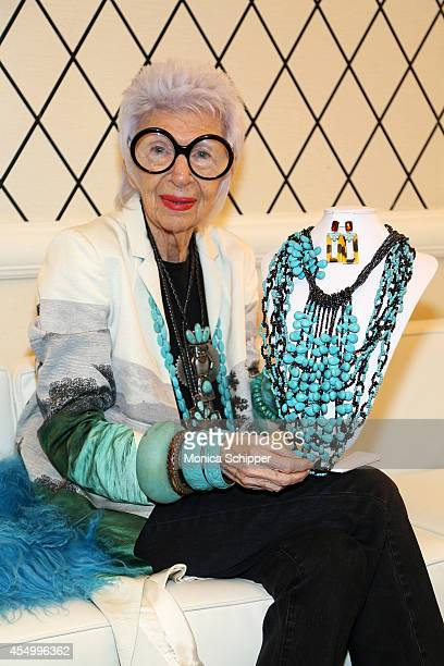 Iris Apfel attends the HSN Fall Fashion Lounge at the Empire Hotel on September 8 2014 in New York City