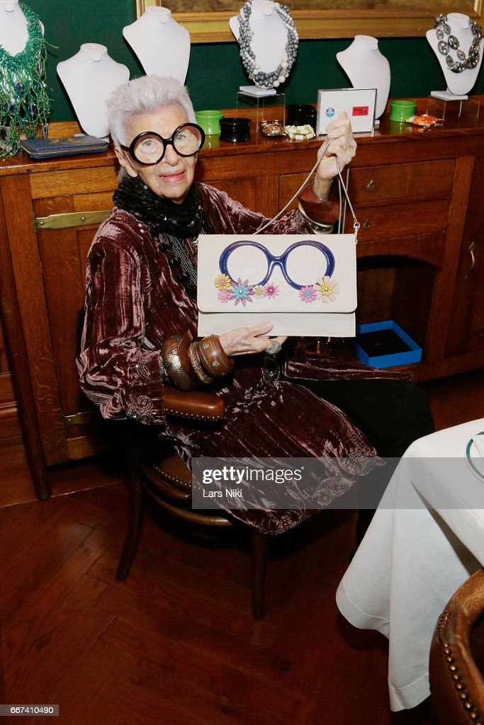 Iris Apfel Hosts Dinner Previewing her HSN Collection at The Polo Bar