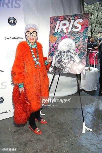 Iris Apfel attends The 'Iris' New York Premiere at Paris Theatre on April 22 2015 in New York City