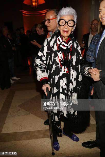 Iris Apfel attends the premiere of 'Manolo The Boy Who Made Shoes for Lizards' hosted by Manolo Blahnik with The Cinema Society on September 14 2017...